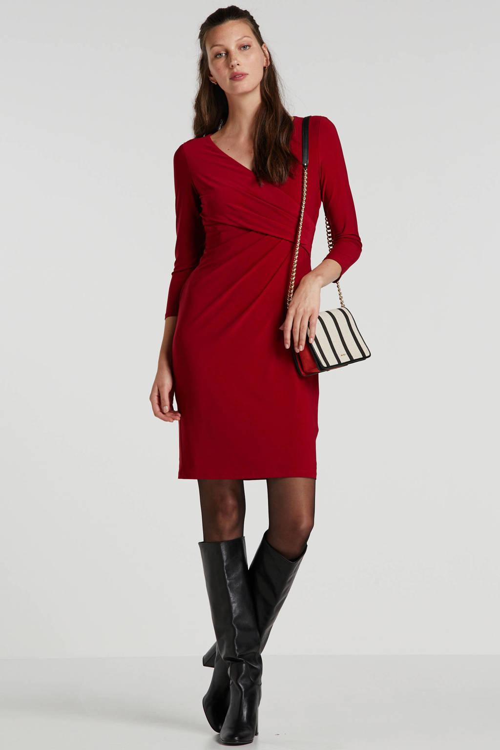 Lauren Ralph Lauren gebloemde overslagjurk rood, Rood