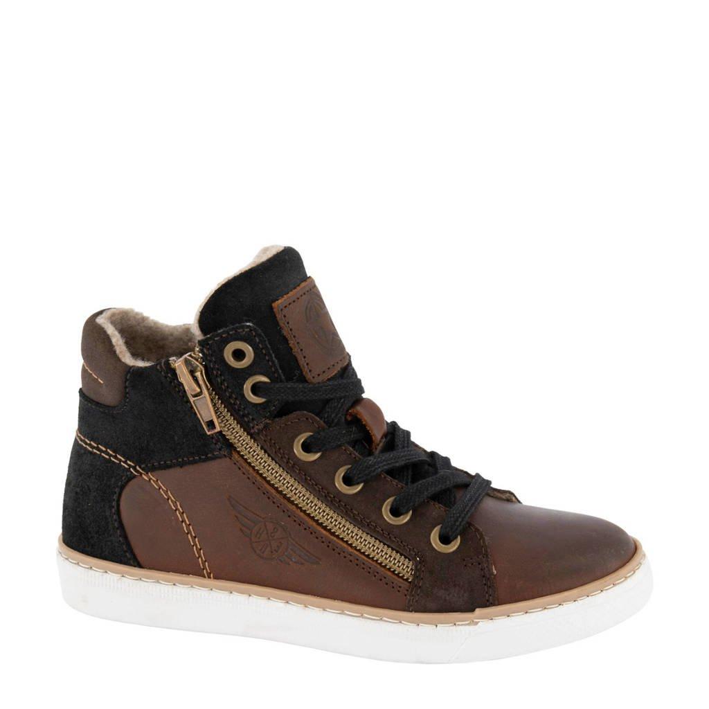 Victory   halfhoge leren sneakers bruin, Bruin