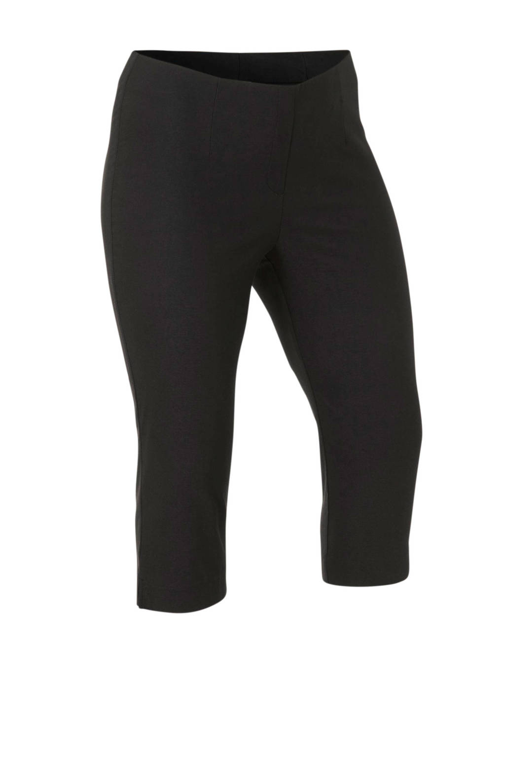 C&A XL Yessica high waist slim fit bermuda zwart, Zwart
