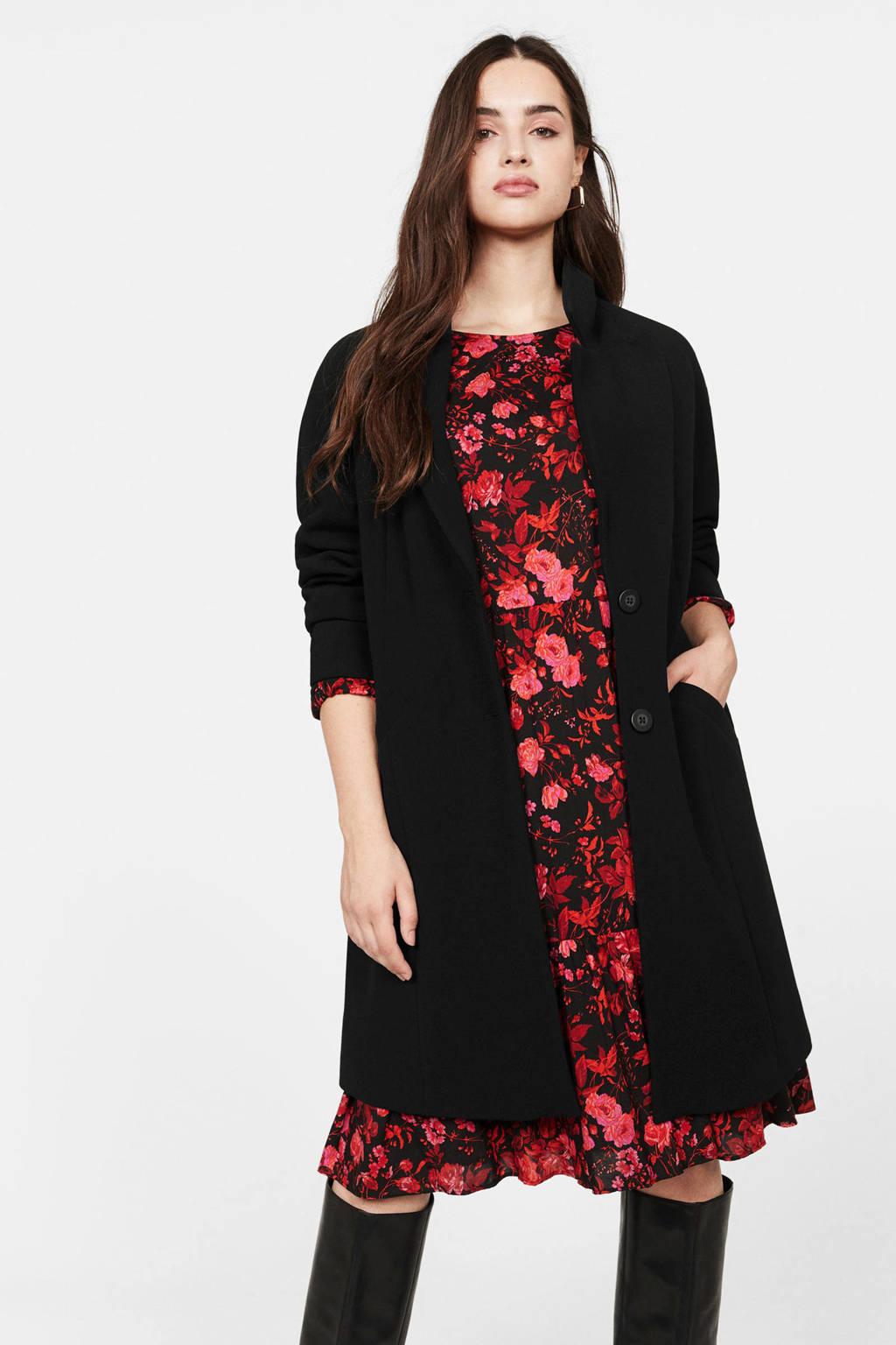Violeta by Mango coat zwart, Zwart