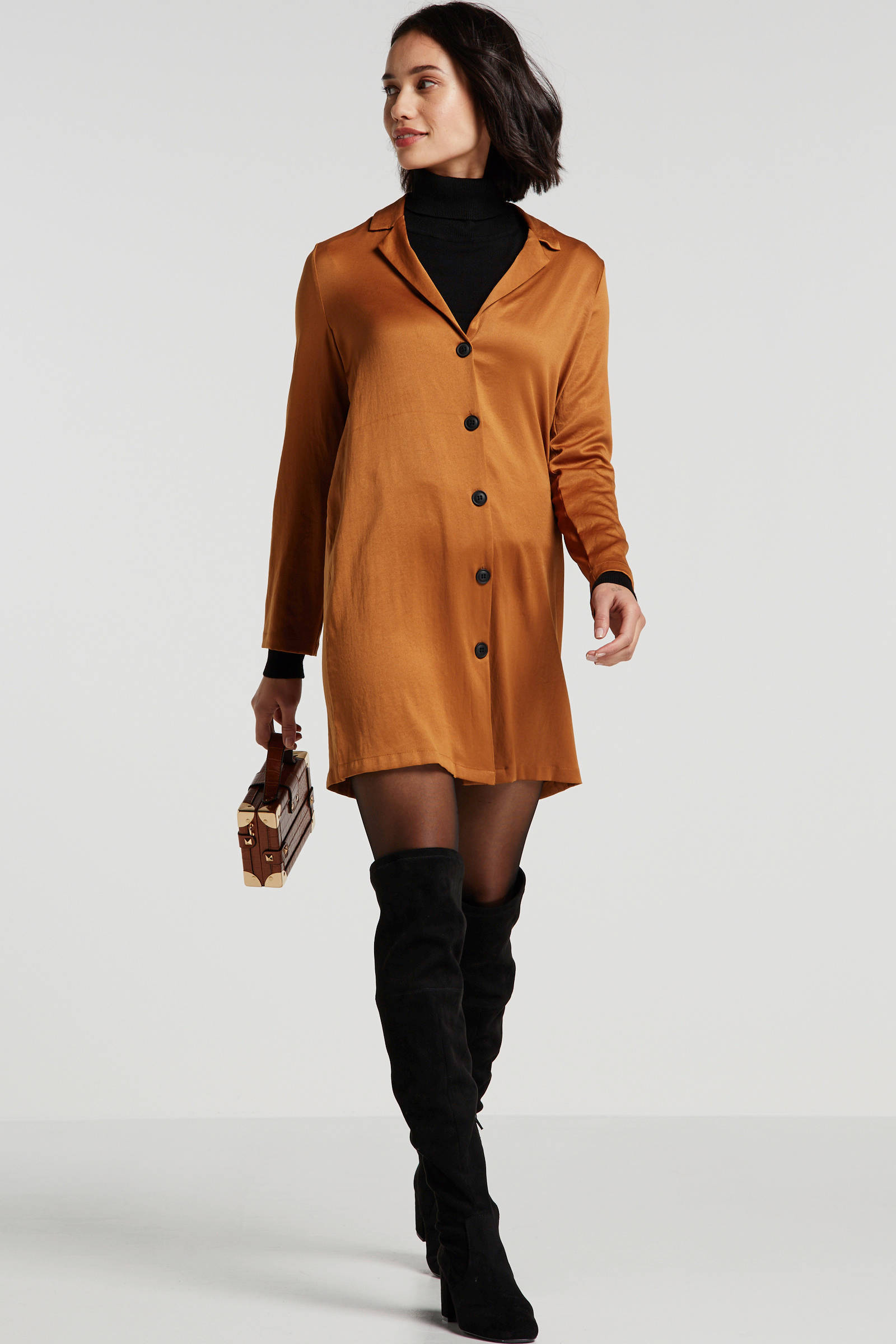 VILA blousejurk kaki | wehkamp