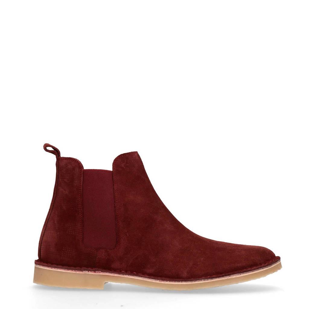 Sacha   suède chelsea boots rood, Rood