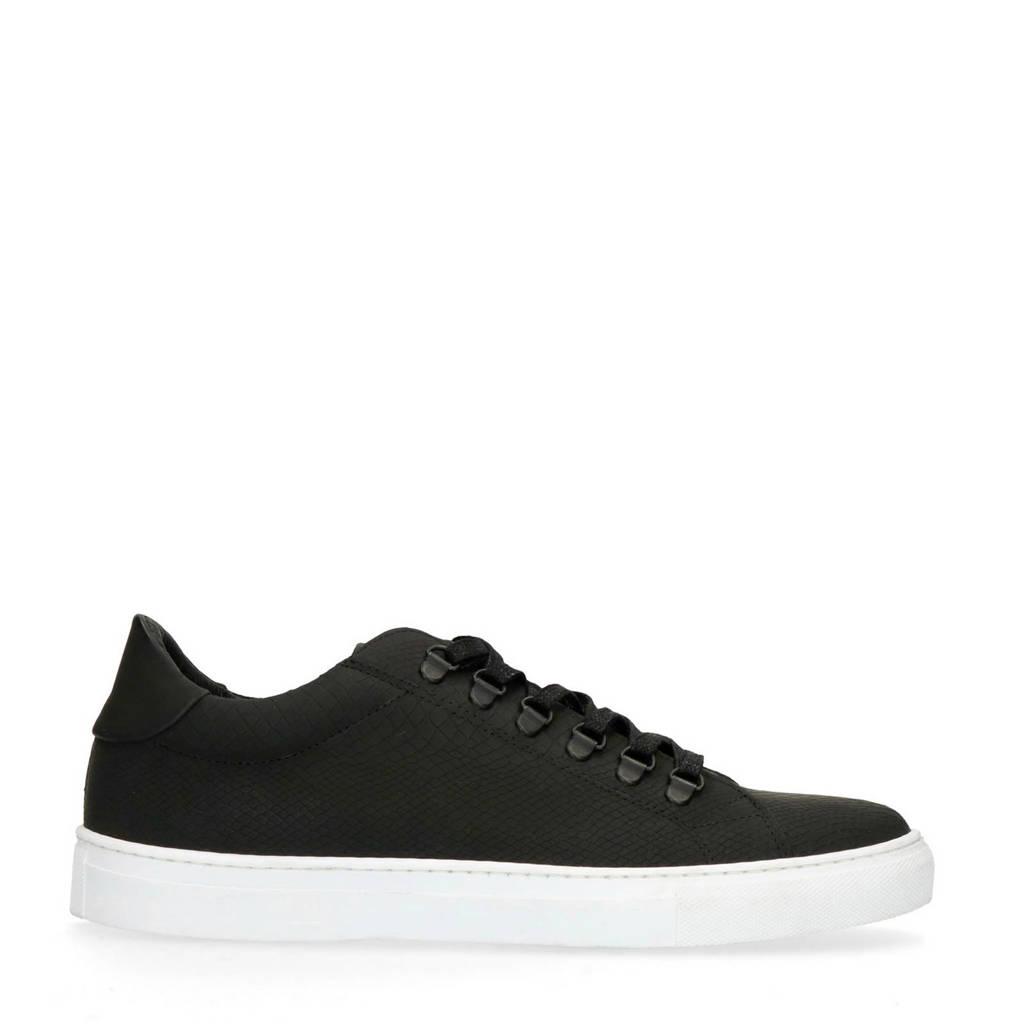Sacha   leren sneakers zwart, Zwart