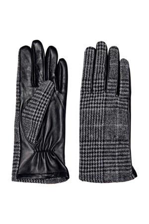 geruite handschoenen zwart