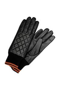 ONLY leren handschoenen zwart, Zwart