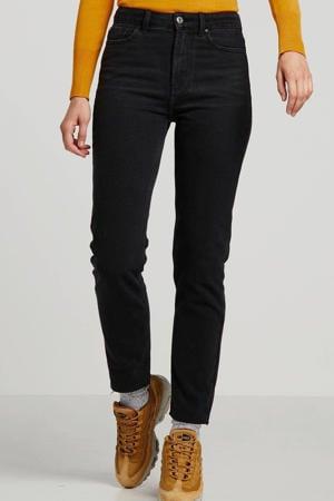 high waist straight fit jeans Emily zwart