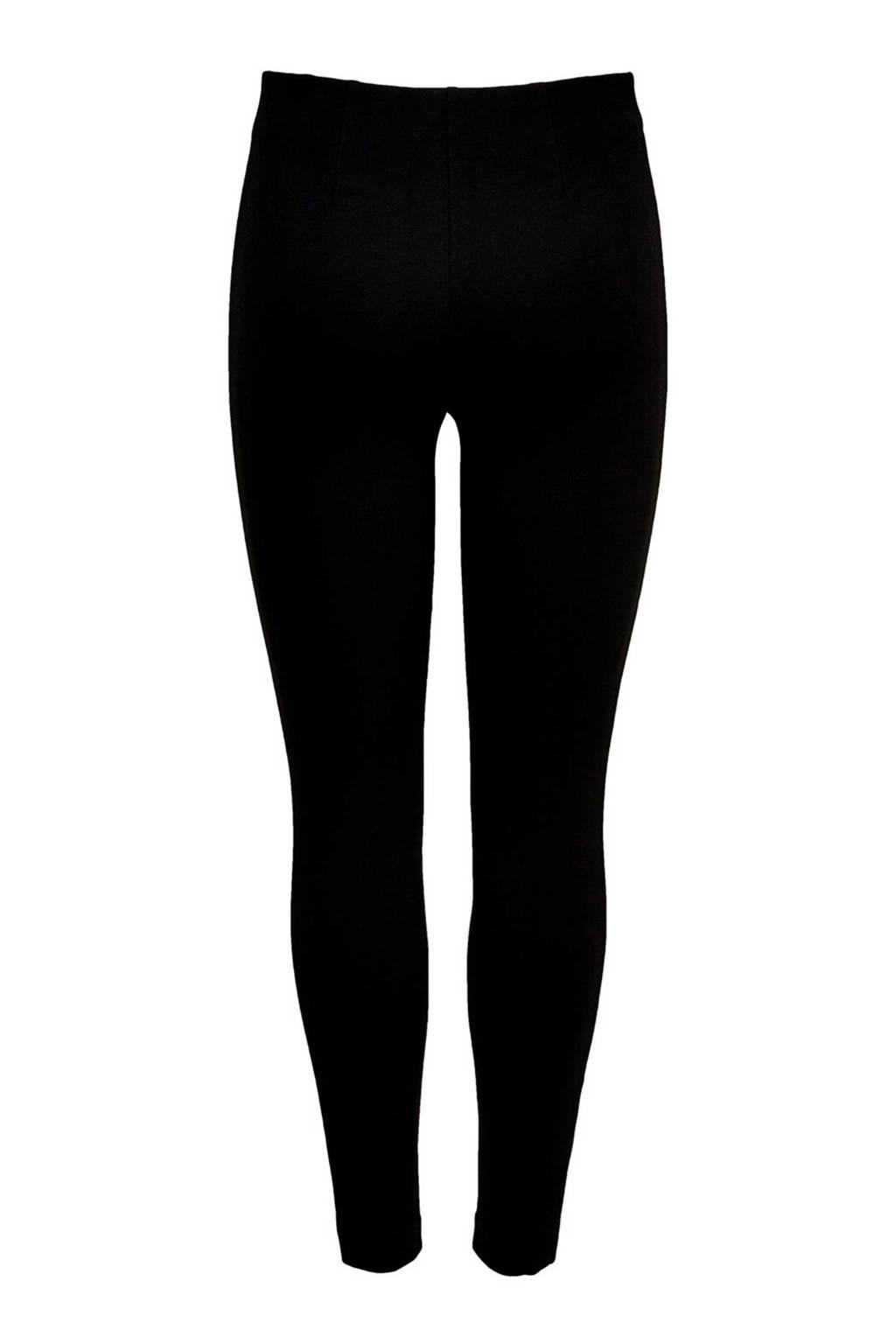 ONLY legging met zijstreep zwart, Zwart