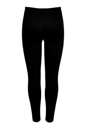 legging met zijstreep zwart