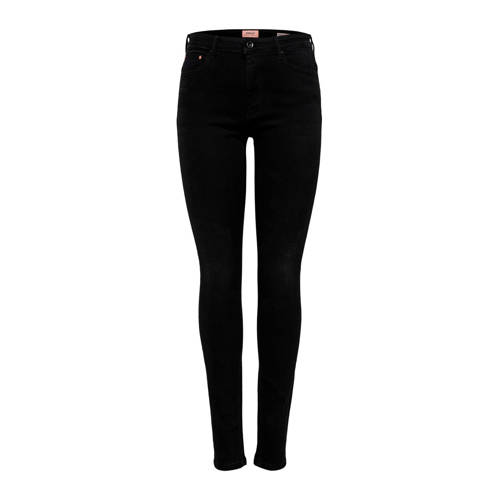 ONLY high waist skinny jeans zwart