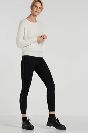 skinny broek met kraaltjes zwart