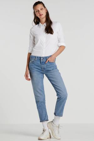 boyfriend jeans met zijstreep blauw