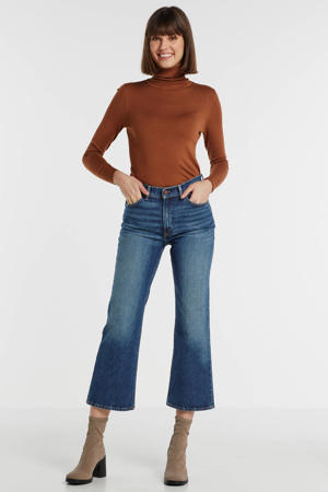 cropped flare jeans blauw