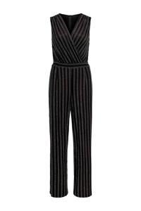 ONLY gestreepte jumpsuit zwart, Zwart