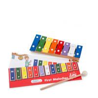 New Classic Toys houten Metallofoon 8-toons, Rood