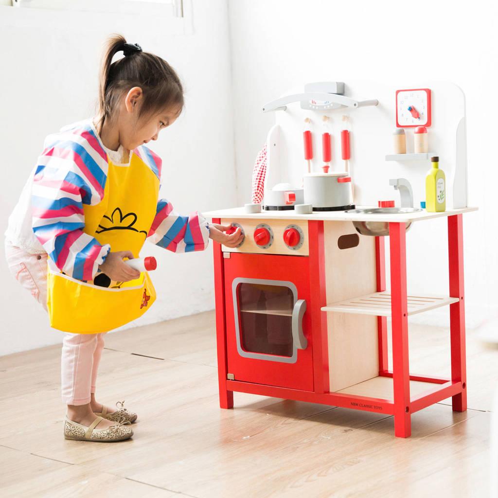 New Classic Toys houten Kinderkeuken Bon Appetit - Rood