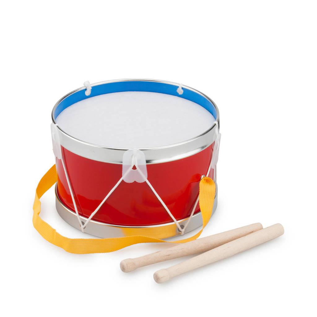 New Classic Toys houten Trommel  17 cm, Rood