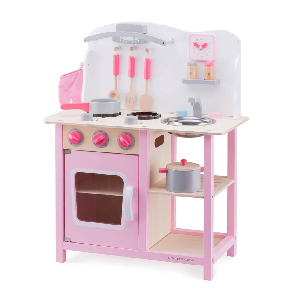 New Classic Toys houten Kinderkeuken Bon Appetit - Roze