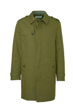 Men Casual trenchcoat groen