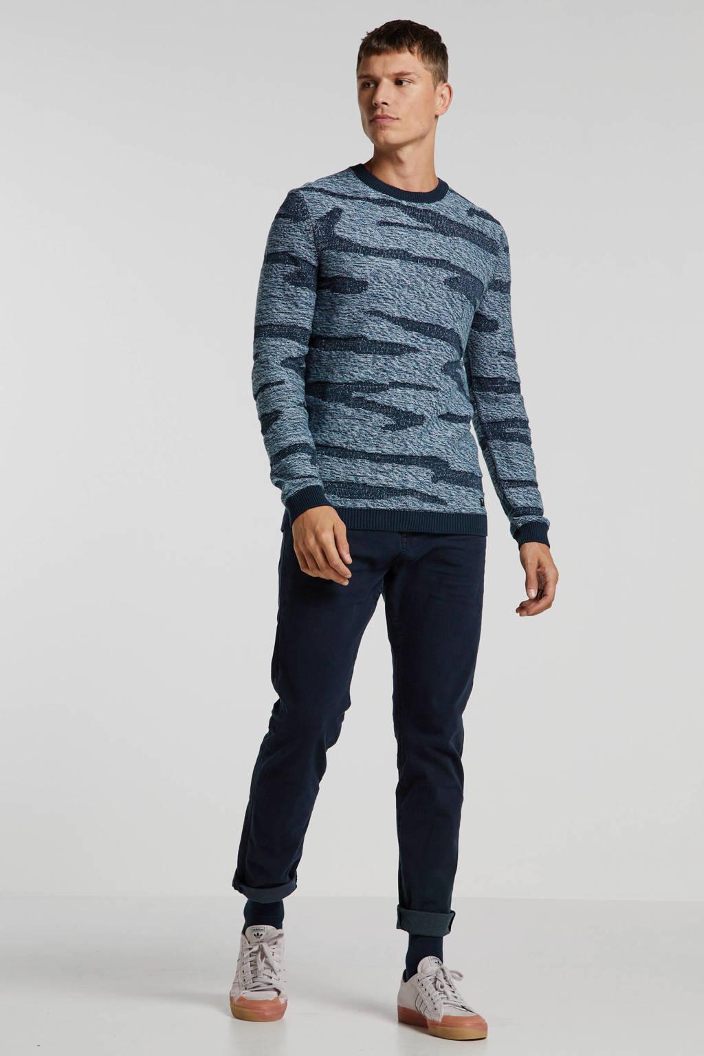ESPRIT Men Casual slim fit broek met biologisch katoen donkerblauw, Donkerblauw