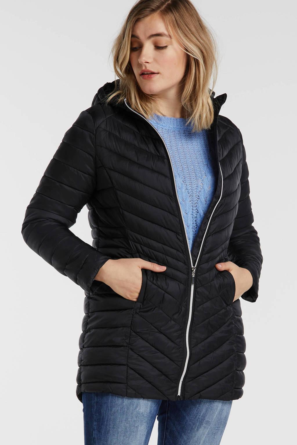 Simply Be Capsule gewatteerde jas zwart, Zwart