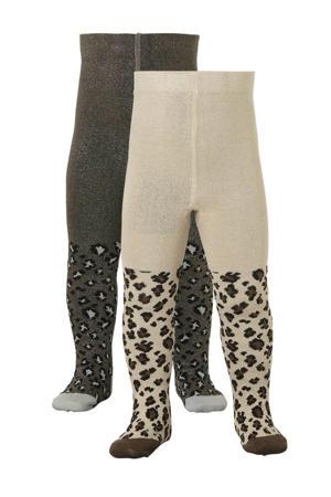 maillot - set van 2 panterprint grijs/beige
