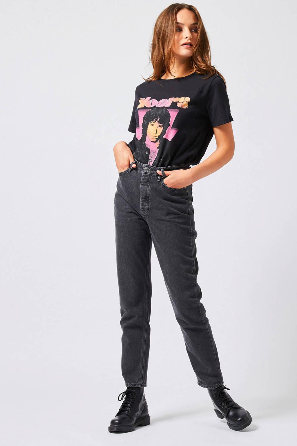 America Today T-shirt met printopdruk zwart, Zwart