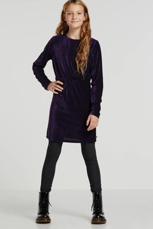 fluwelen jurk paars