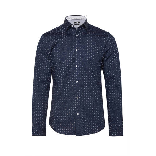 WE Fashion slim fit overhemd met all over print ma