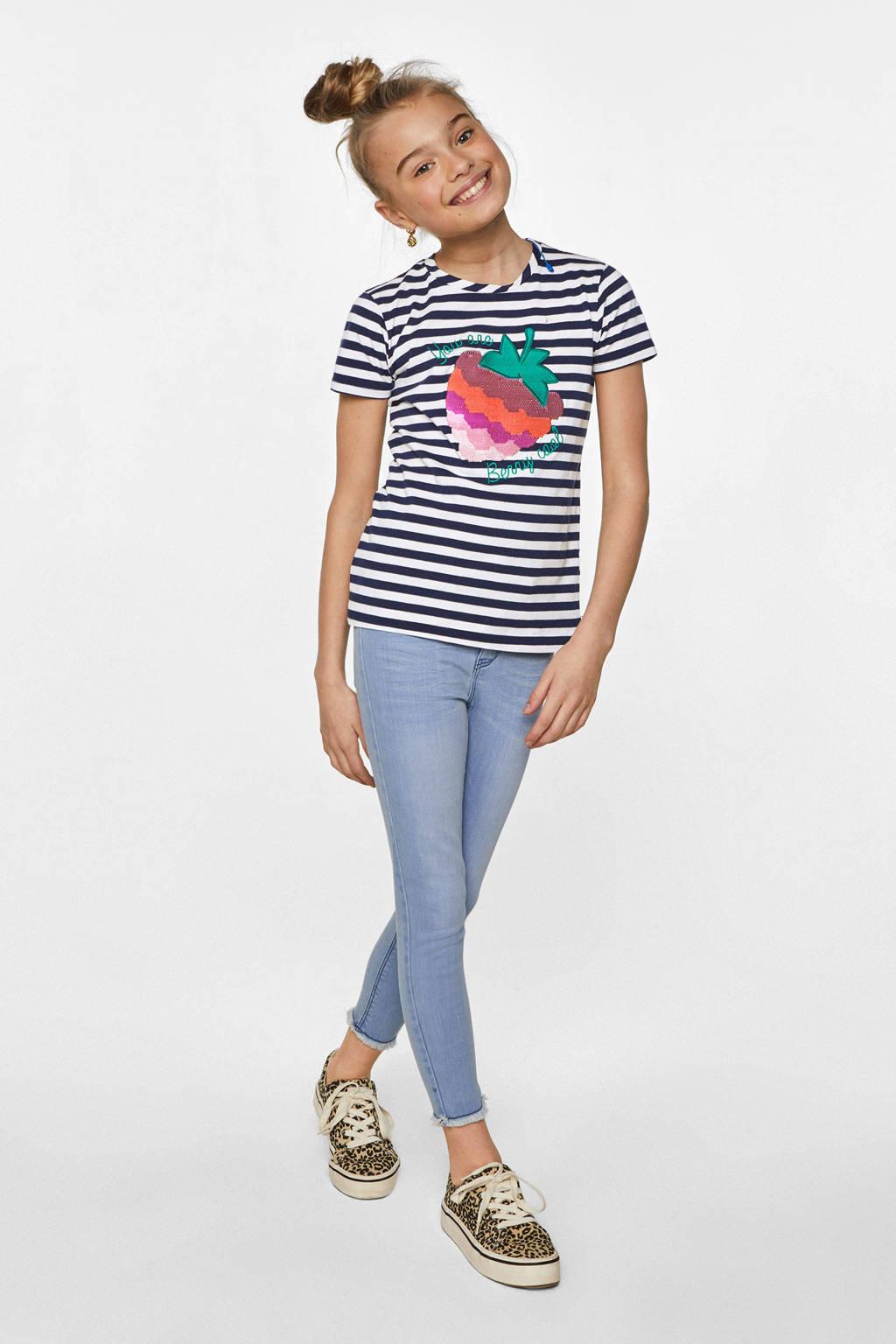 WE Fashion Blue Ridge super skinny jeans bright blue denim, Bright Blue Denim