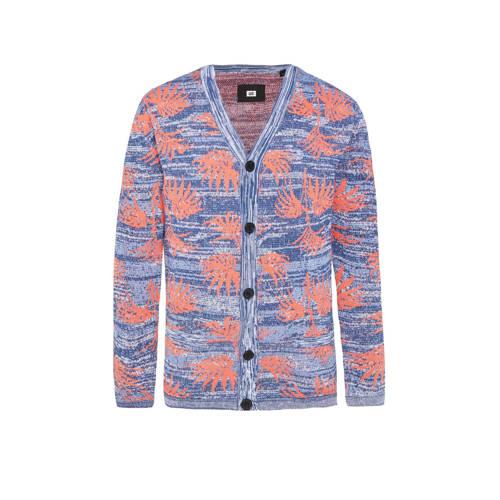 WE Fashion vest met bladprint new flame
