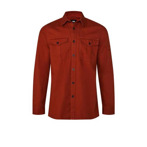 WE Fashion regular fit overhemd rood