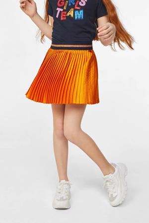 rok met glitters oranje/donkerblauw