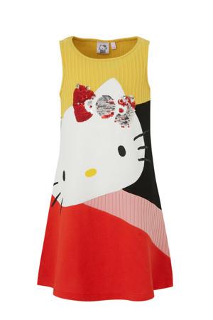 Hello Kitty A-lijn jurk met pailletten geel