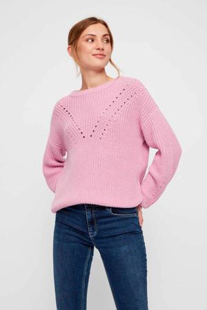 gebreide trui roze