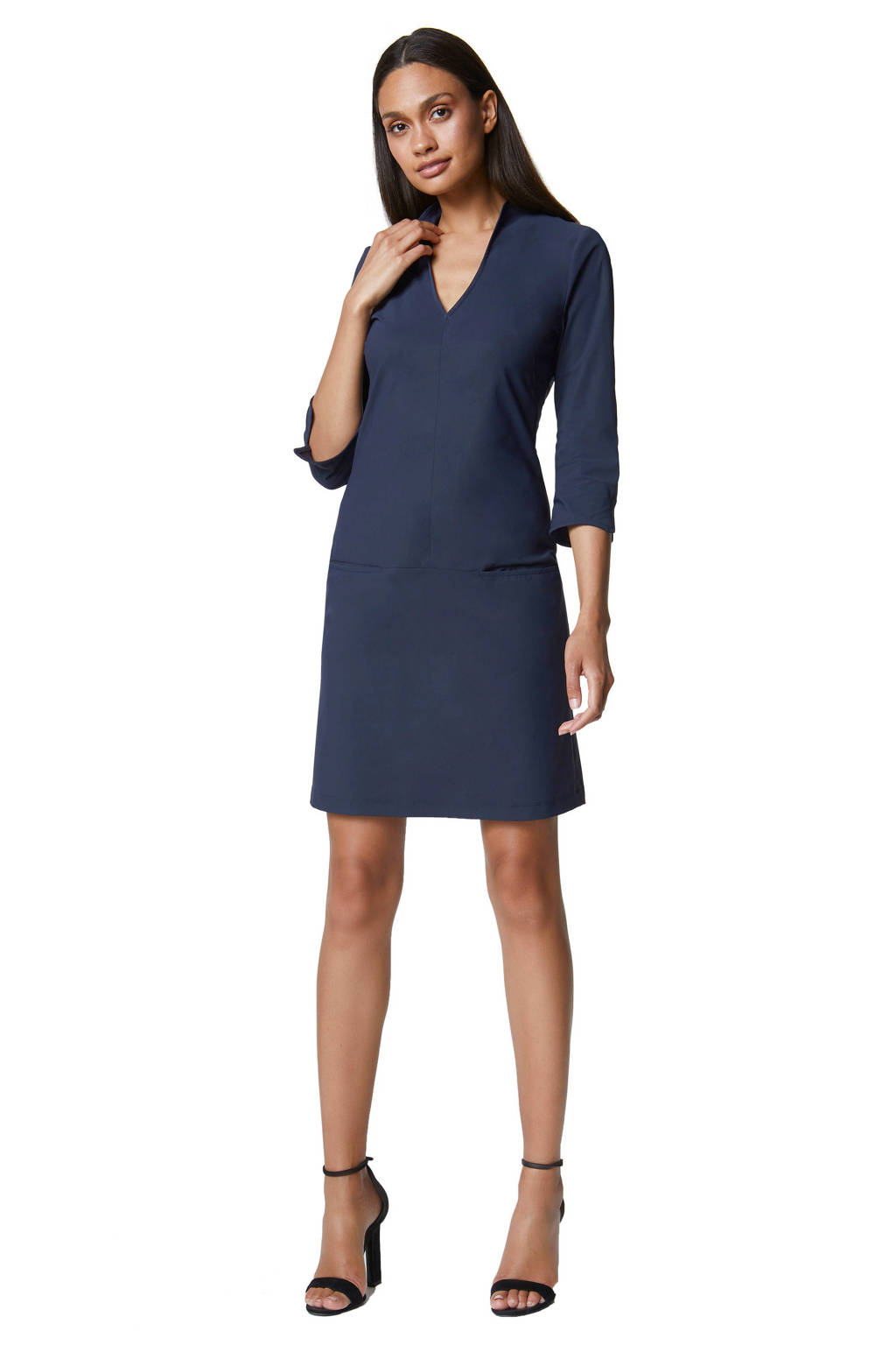 LaDress travelstof jurk Sade blauw, Blauw