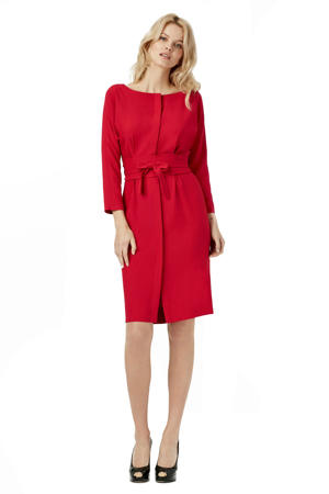 jurk Helena met ceintuur rood