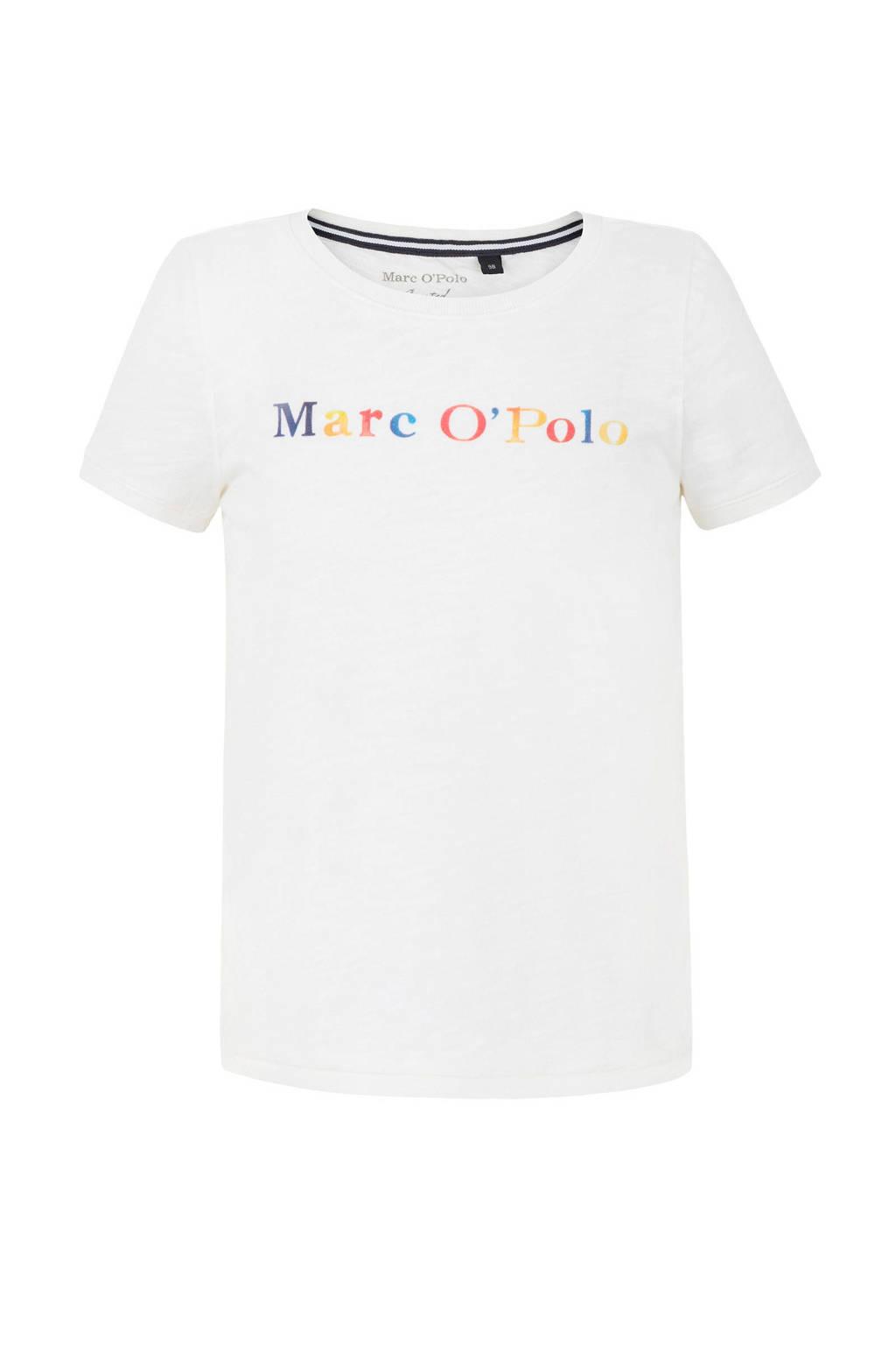 Marc O'Polo T-shirt met tekst wit, Wit