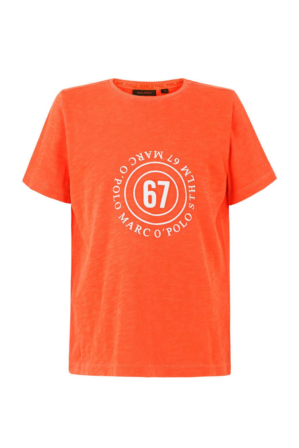 Marc O'Polo T-shirt met printopdruk oranje, Oranje