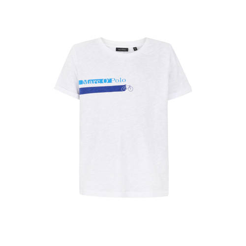 Marc O'Polo T-shirt met printopdruk wit