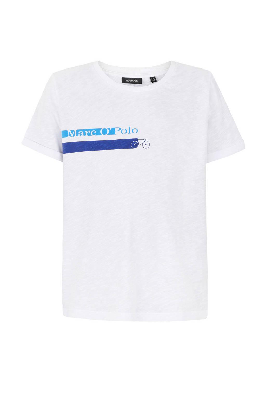 Marc O'Polo T-shirt met printopdruk wit, Wit