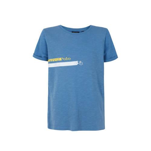 Marc O'Polo T-shirt met printopdruk blauw