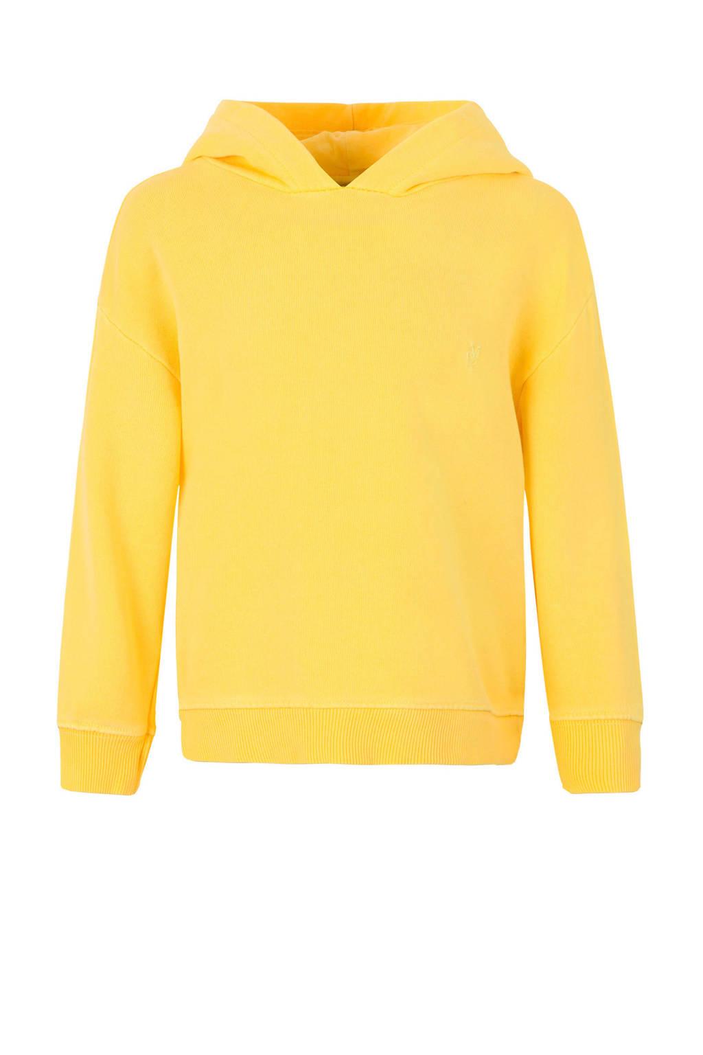Marc O'Polo hoodie met logo geel, Geel