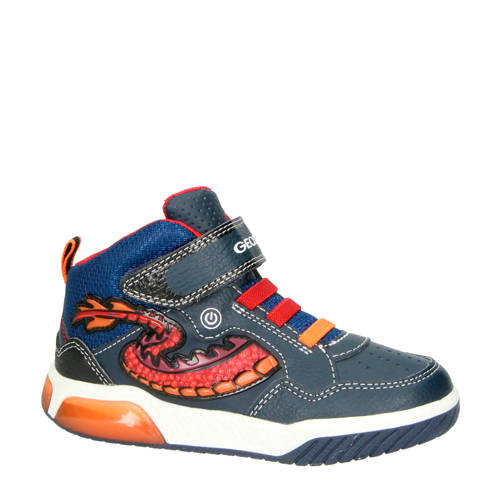 Geox Inek sneakers grijs/rood