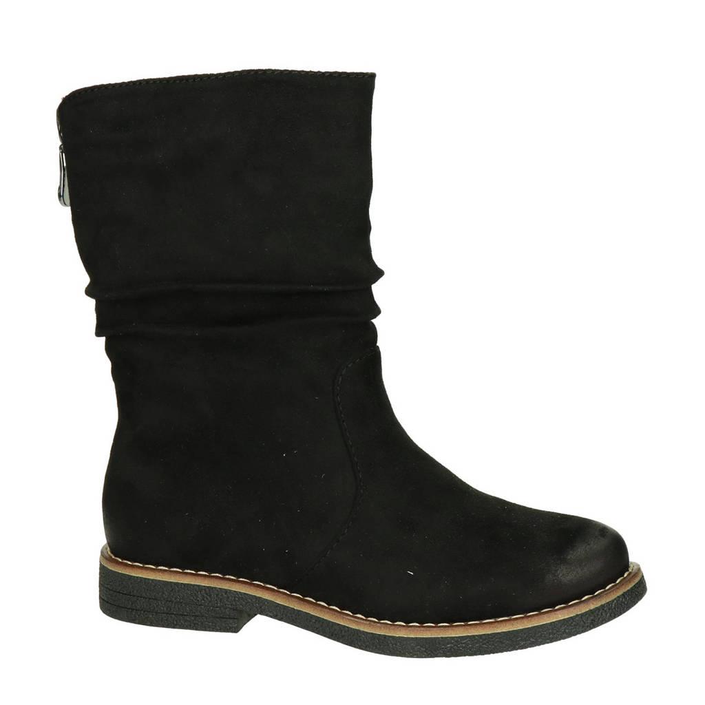 Rieker   laarzen zwart, Zwart