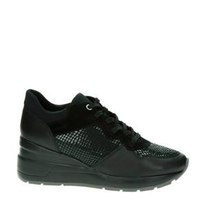 Zosma  leren wedge sneakers zwart