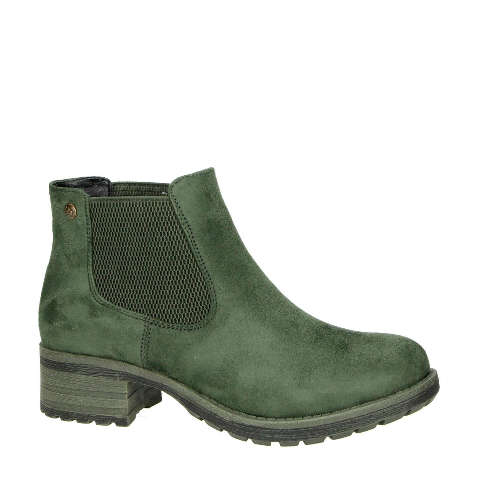 chelsea boots groen