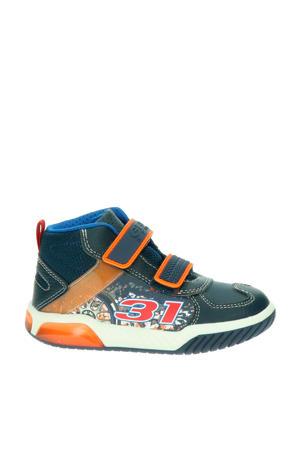 Inek  halfhoge sneakers blauw/multi