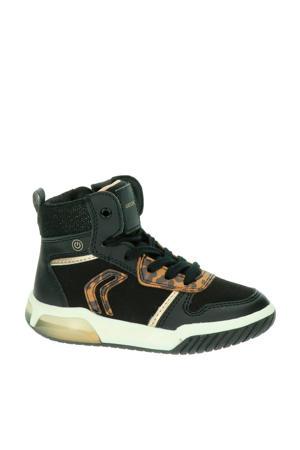 Inek  halfhoge sneakers panterprint/zwart