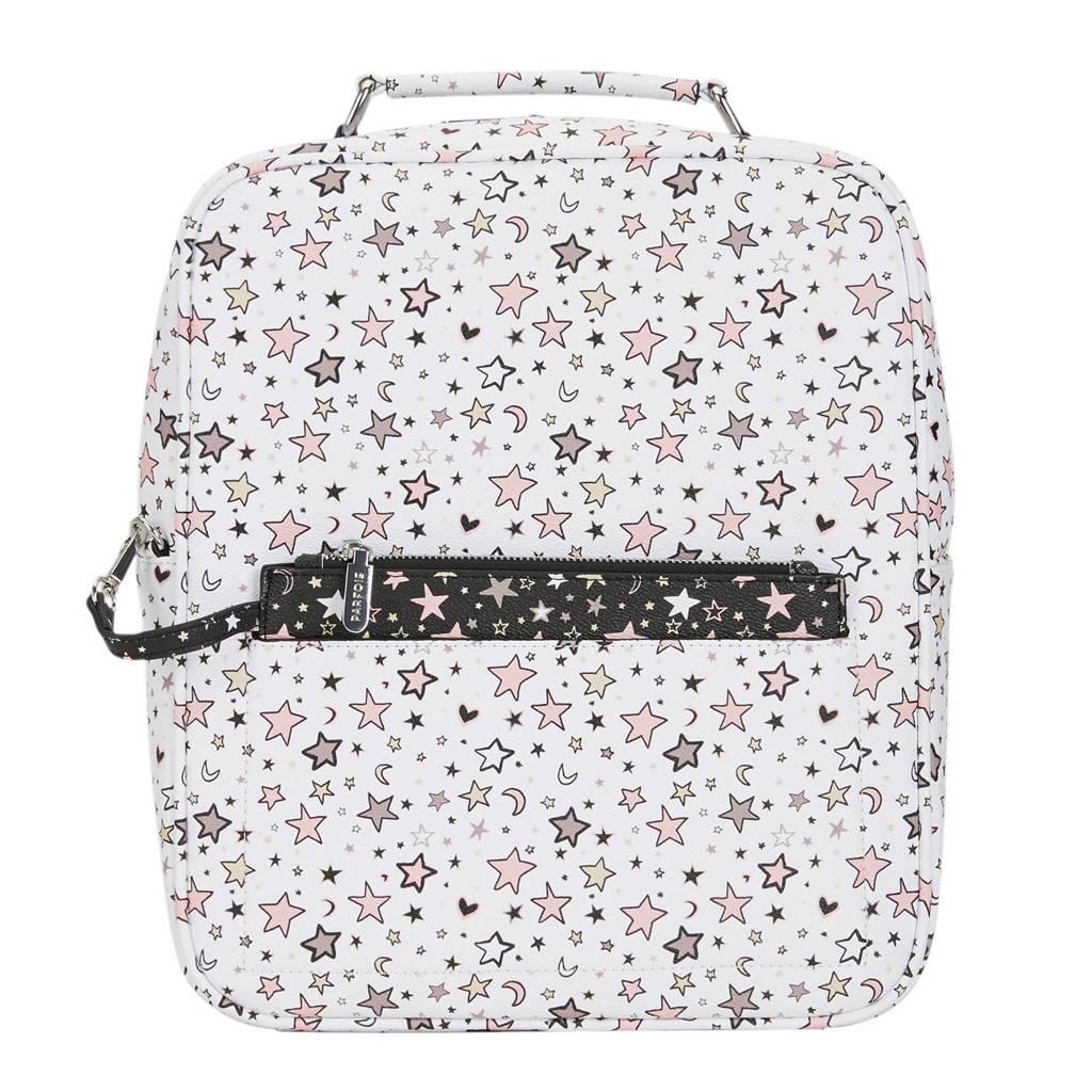Parfois   rugzak sterren wit/roze, Wit/roze/zwart