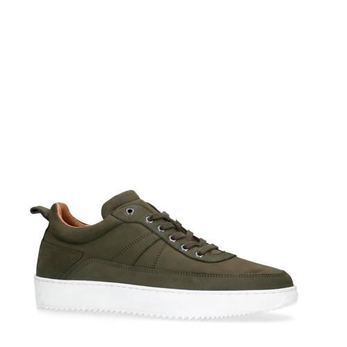 Manfield nubuck sneakers groen